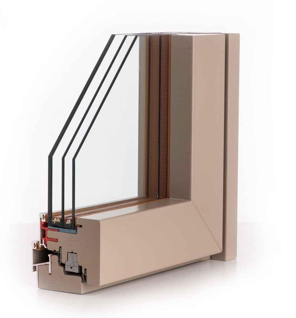 Finestre legno alluminio e infissi legno vetro strutturale - Vetri doppi per finestre ...