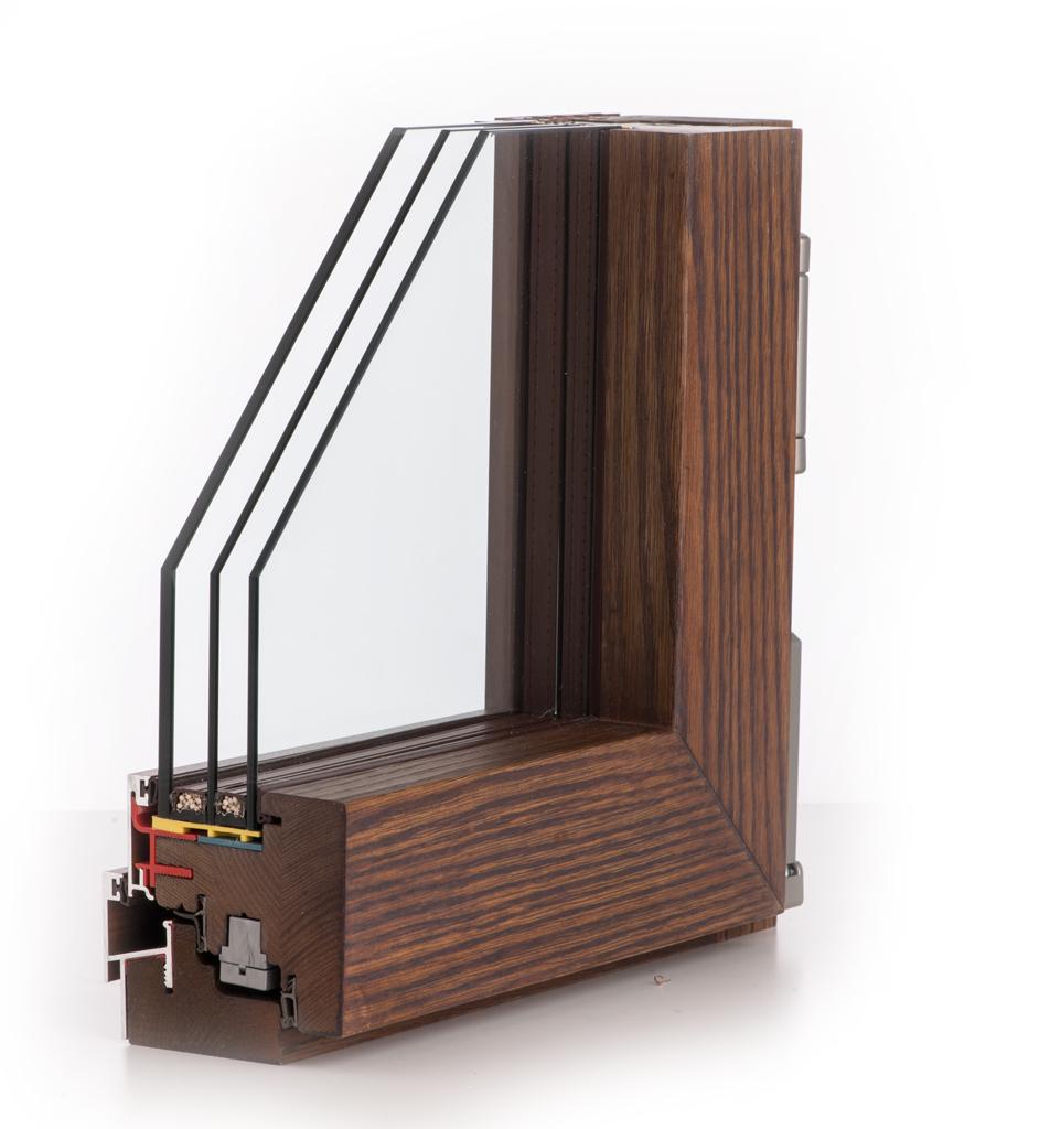 Finestre legno alluminio design minimale con 30 di luce - Finestre legno italia ...