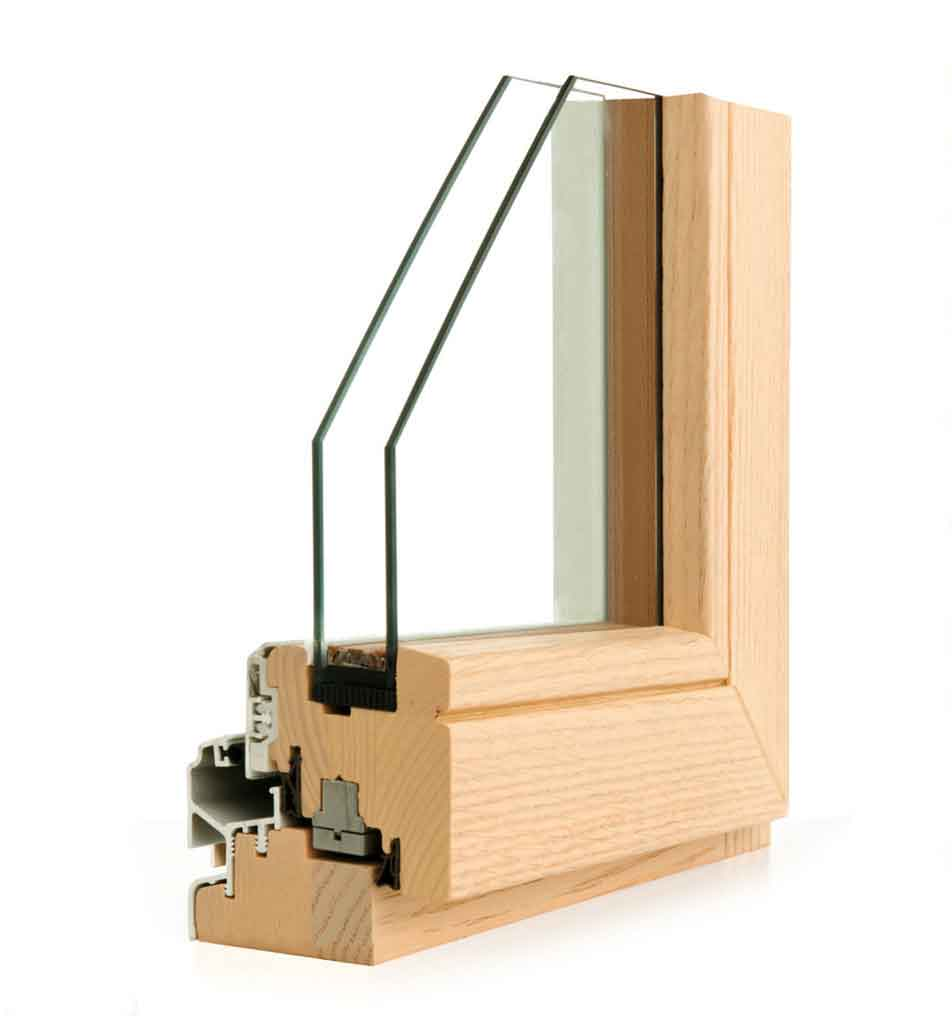 Finestre legno alluminio e infissi legno vetro strutturale for Finestre di legno