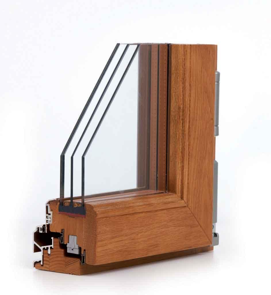 Finestre legno alluminio e infissi legno vetro strutturale - Finestre in legno lamellare ...