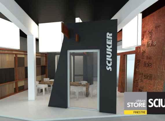 Il primo Finestre Sciuker Frames  Urban Store sboccia nel cuore della capitale
