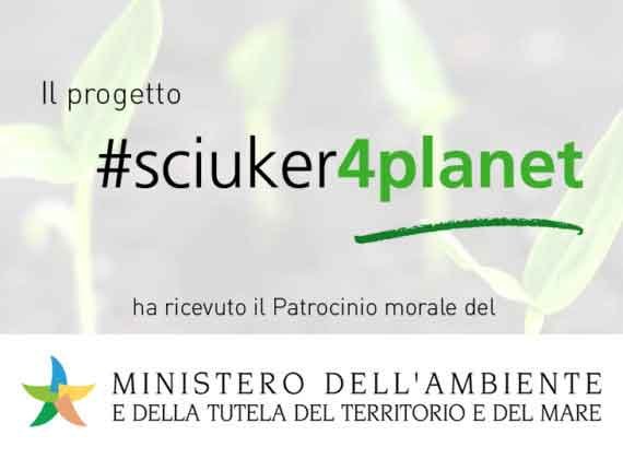 #Sciuker4Planet riceve il patrocinio del Ministero dell'Ambiente