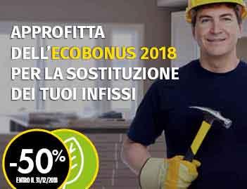 Ecobonus 2018 risparmia fino al 50% per la sostituzione delle tue vecchie finestre